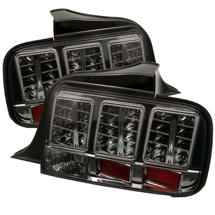 Ford Mustang 05-09 Euro Style LED Tail Lights - Smoke