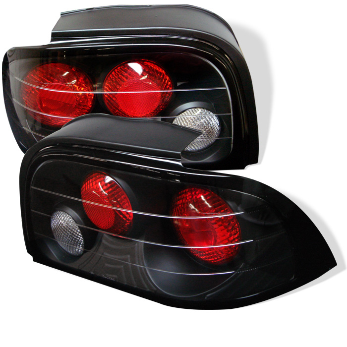 Ford Mustang 94-95 Euro Style Tail Lights - Black
