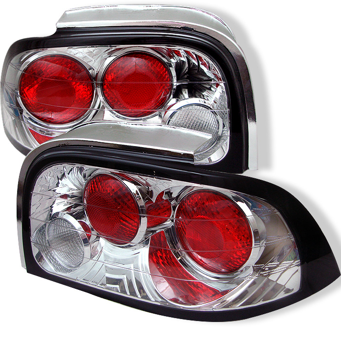 Ford Mustang 96-98 Euro Style Tail Lights - Chrome