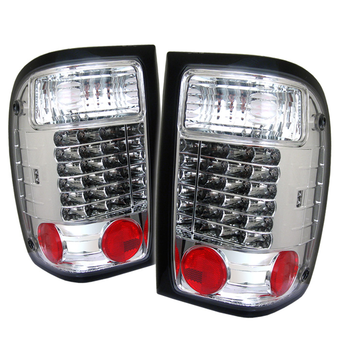 Ford Ranger 93-00 LED Tail Lights - Chrome