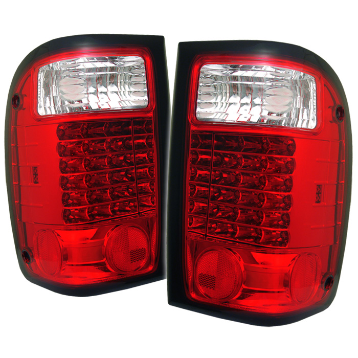 Ford Ranger 93-00 LED Tail Lights - Red Clear