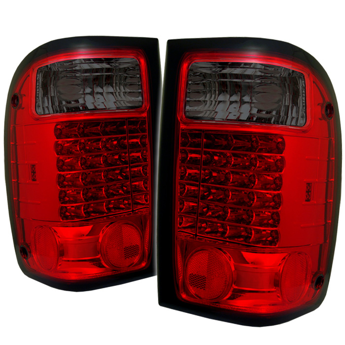 Ford Ranger 93-00 LED Tail Lights - Red Smoke