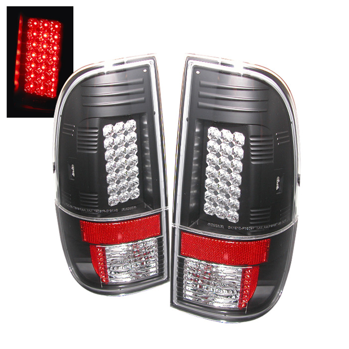 Ford F250/350/450/550 Super Duty 08-13 LED Tail Lights - Black