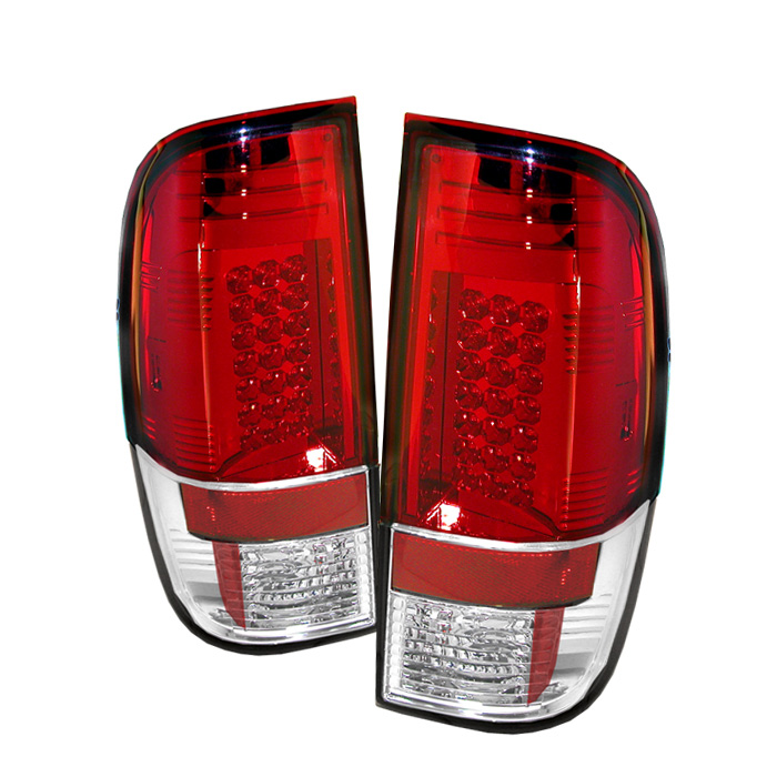 Ford F250/350/450/550 Super Duty 08-13 LED Tail Lights - Red Cle