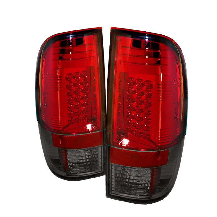 Ford F250/350/450/550 Super Duty 08-13 LED Tail Lights - Red Smo