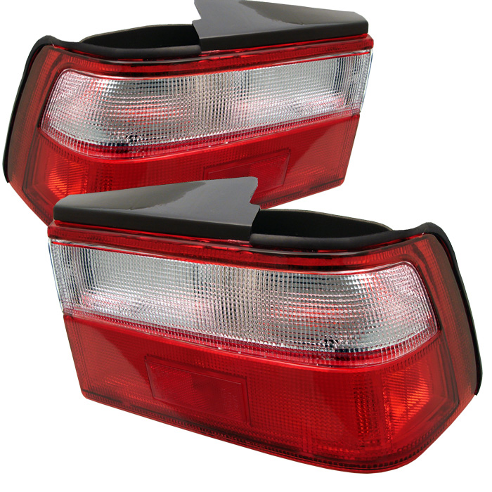 Honda Accord 88-89 Euro Style Tail Lights - Red Clear
