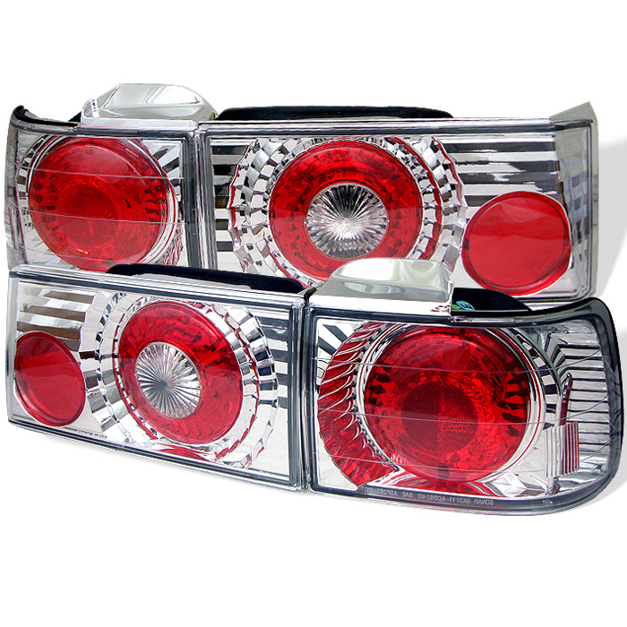 Honda Accord 90-91 4Dr Euro Style Tail Lights - Chrome