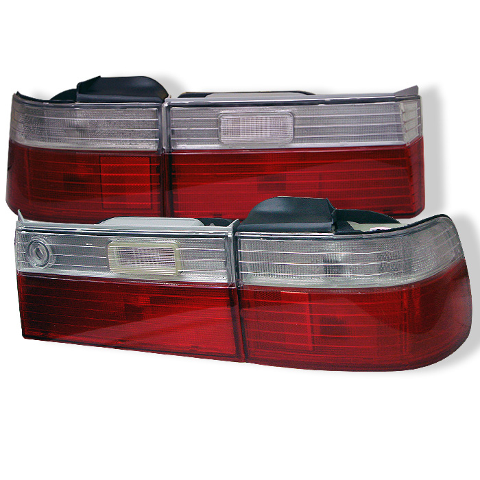 Honda Accord 90-91 4Dr Euro Style Tail Lights- Red Clear