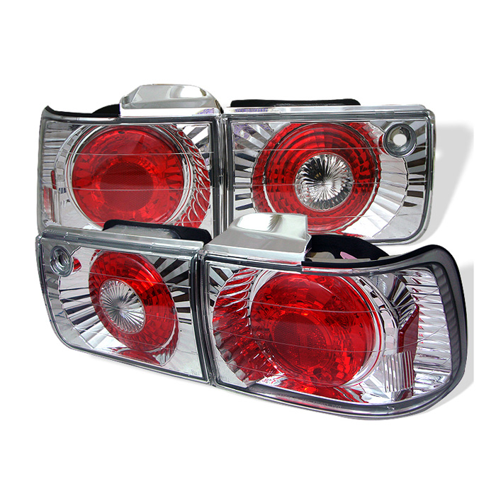 Honda Accord 92-93 4Dr Euro Style Tail Lights - Chrome