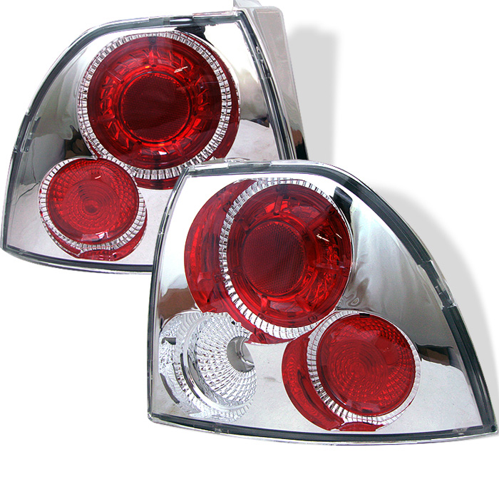 Honda Accord 94-95 Euro Style Tail Lights - Chrome
