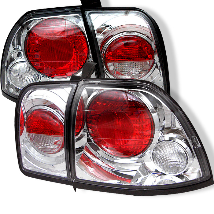 Honda Accord 96-97 Euro Style Tail Lights - Chrome