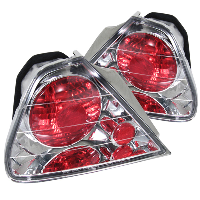 Honda Accord 98-00 2Dr Euro Style Tail Lights - Chrome