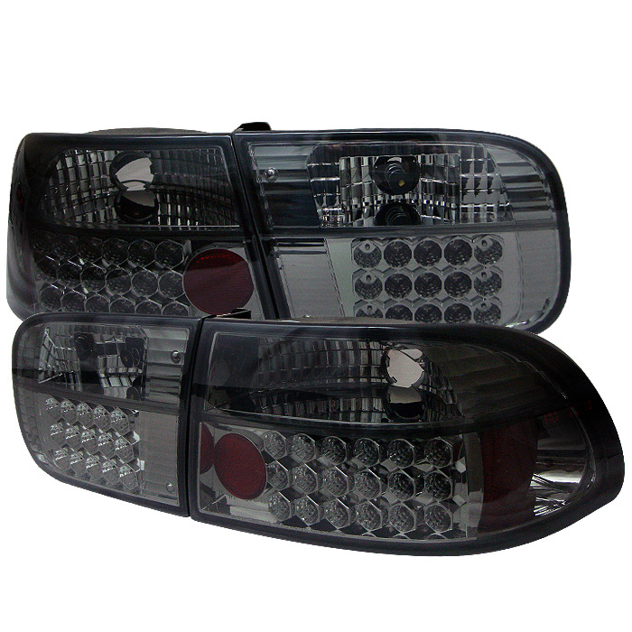 Honda Civic 92-95 2/4DR LED Tail Lights - Smoke