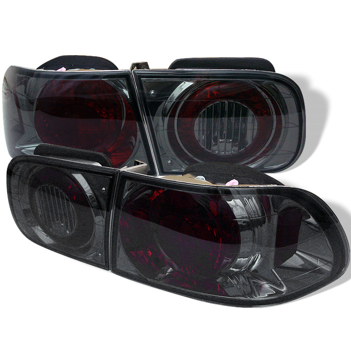 Honda Civic 92-95 2/4DR Euro Style Tail Lights - Smoke