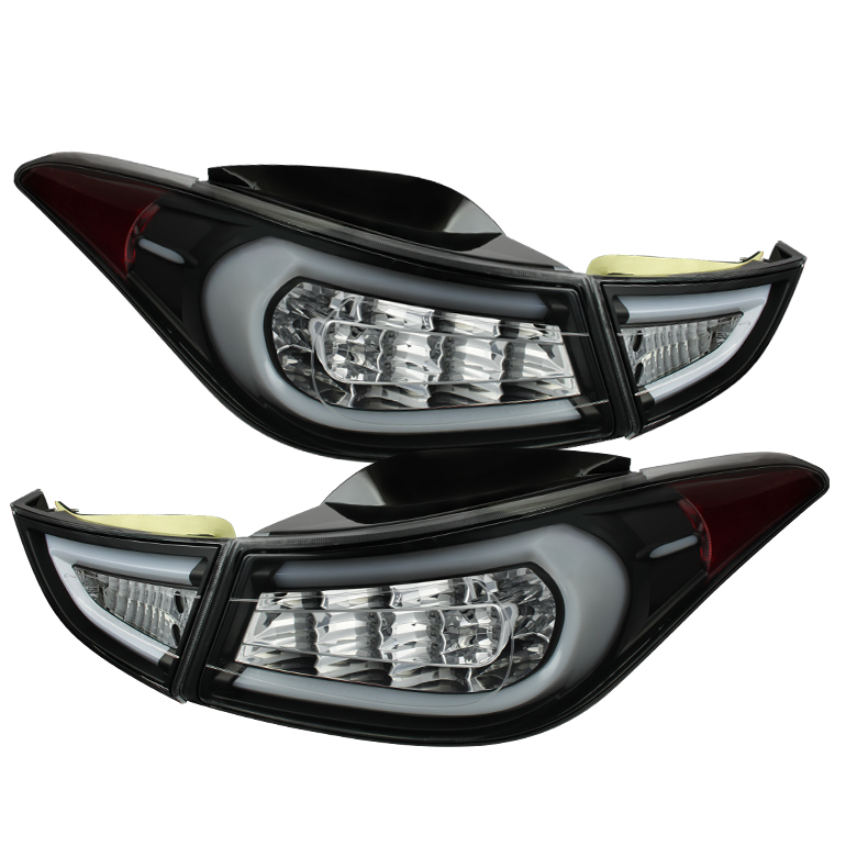Hyundai Elantra 11-13 Light Bar LED Tail Lights - Black
