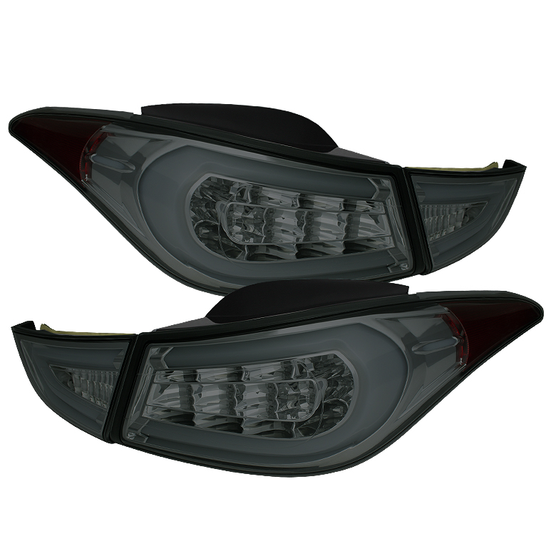 Hyundai Elantra 11-13 Light Bar LED Tail Lights - Smoke