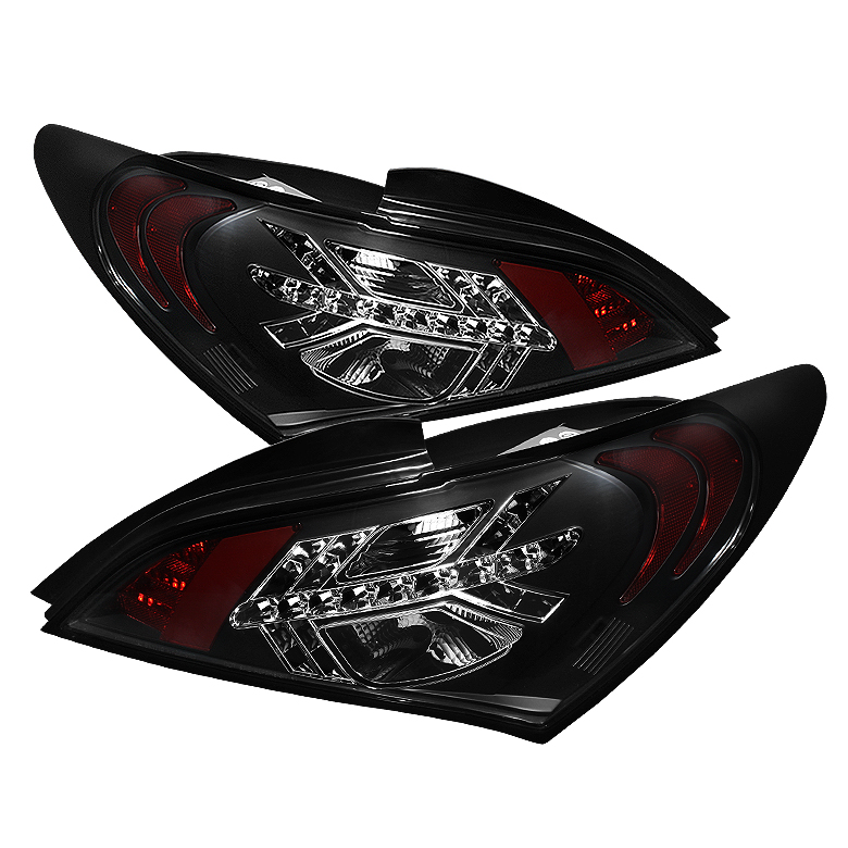 Hyundai Genesis 10-12 2Dr LED Tail Lights - Black