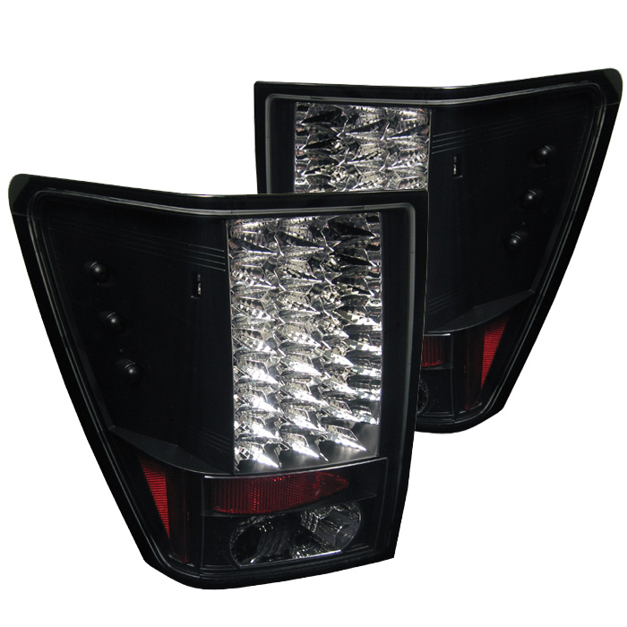 Jeep Grand Cherokee 05-06 LED Tail Lights - Black