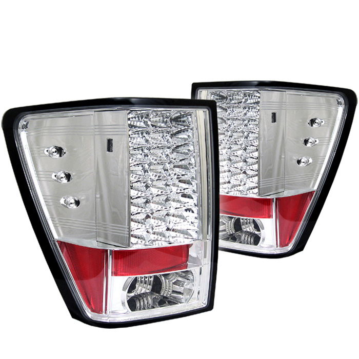 Jeep Grand Cherokee 05-06 LED Tail Lights - Chrome