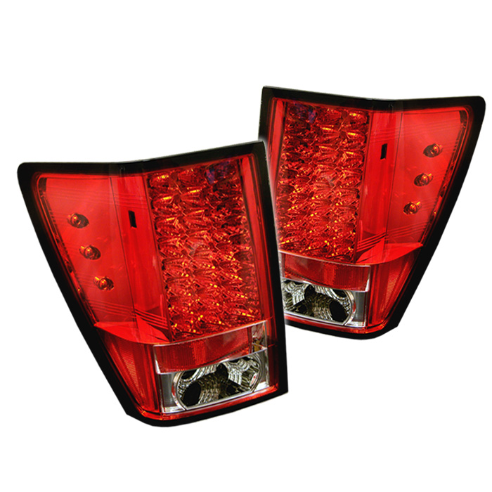 Jeep Grand Cherokee 05-06 LED Tail Lights - Red Clear
