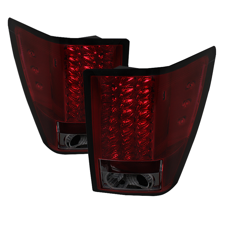 Jeep Grand Cherokee 07-10 LED Tail Lights - Red Smoke