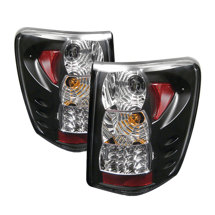 Jeep Grand Cherokee 99-04 LED Tail Lights Version 2 - Black