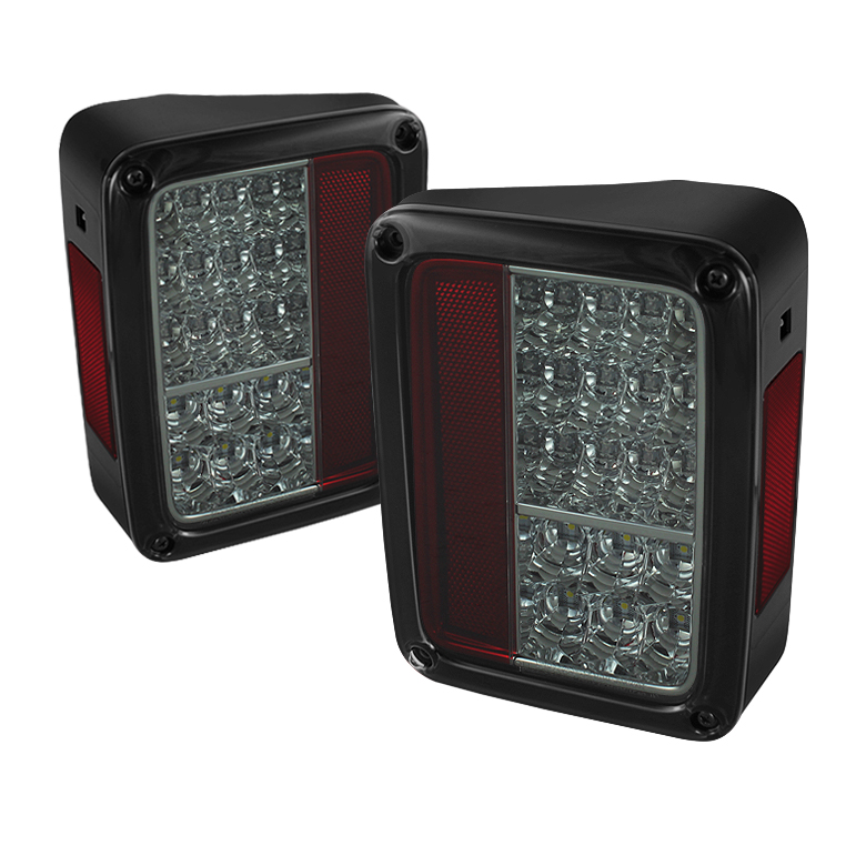 Jeep Wrangler 07-13 LED Tail Lights - Chrome