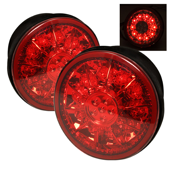 Lexus IS 300 01-03 LED Trunk Tail Lights - Red Clear