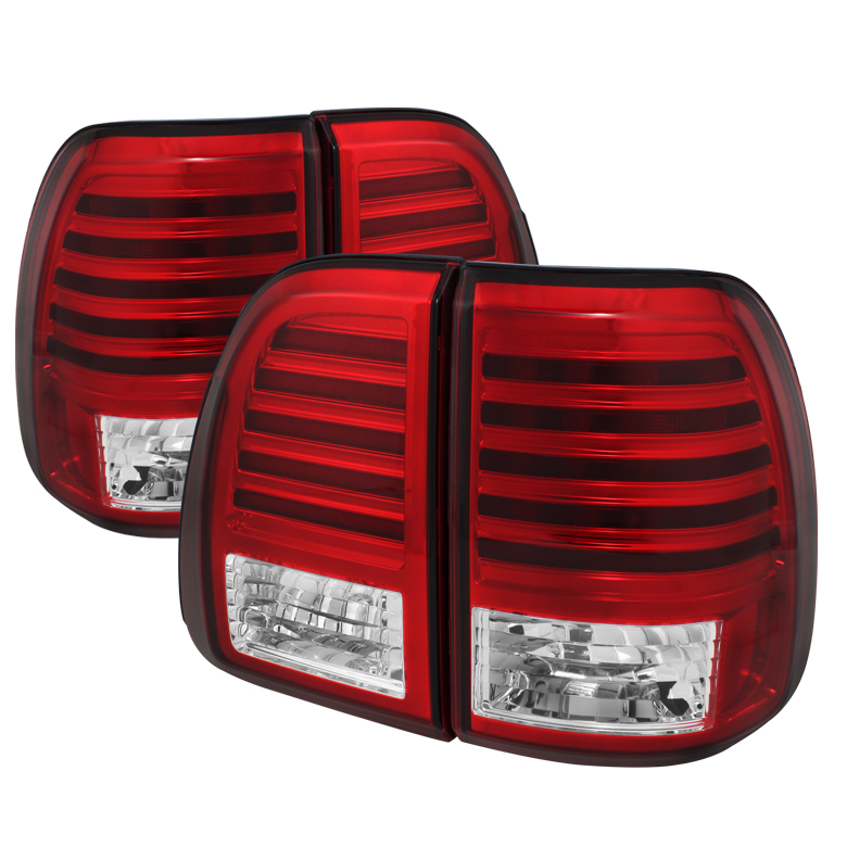 Lexus LX470 03-07 LED Tail Lights - Red Clear
