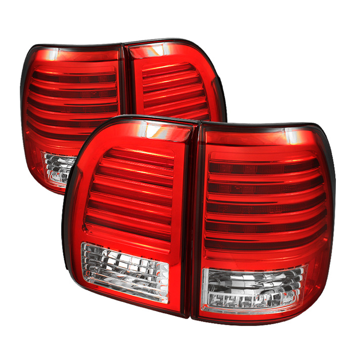 Lexus LX470 98-02 LED Tail Lights - Red Clear