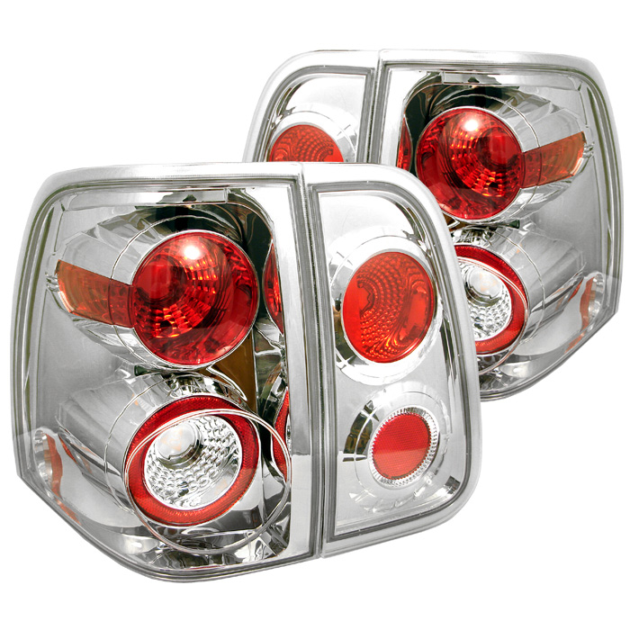 Lincoln Navigator 03-06 Euro Style Tail Lights - Chrome