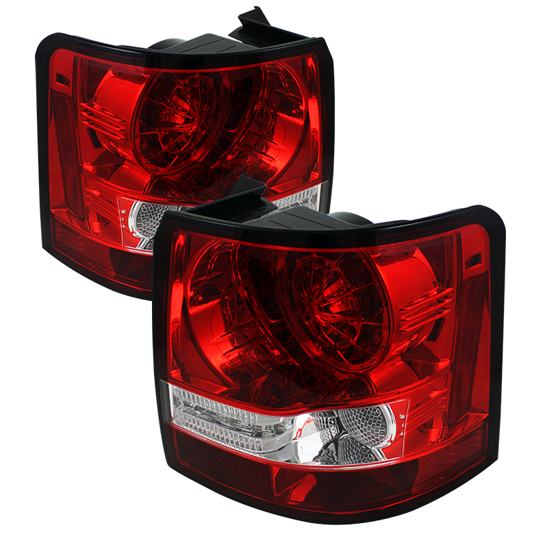 Land Rover Range Rover Sport 06-09 LED Tail Lights - Red Clear