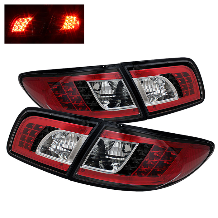 Mazda 6 03-08 4/5DR (Not fit Wagon) LED Tail Lights - Black