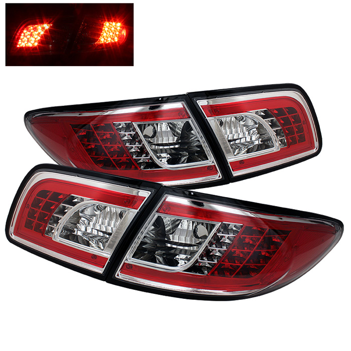 Mazda 6 03-08 4/5DR (Not fit Wagon) LED Tail Lights - Chrome