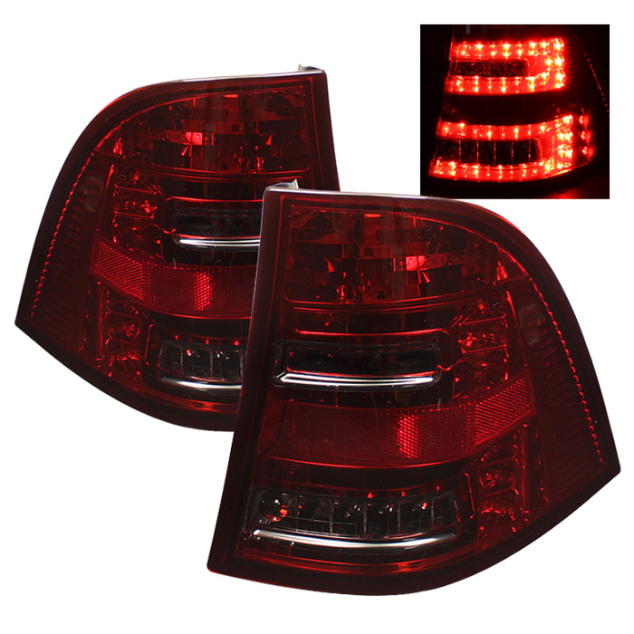 Mercedes Benz W163 M-Class ML 98-05 LED Tail Lights - Red Smoke