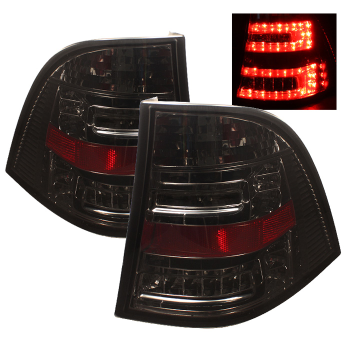 Mercedes Benz W163 M-Class ML 98-05 LED Tail Lights - Smoke