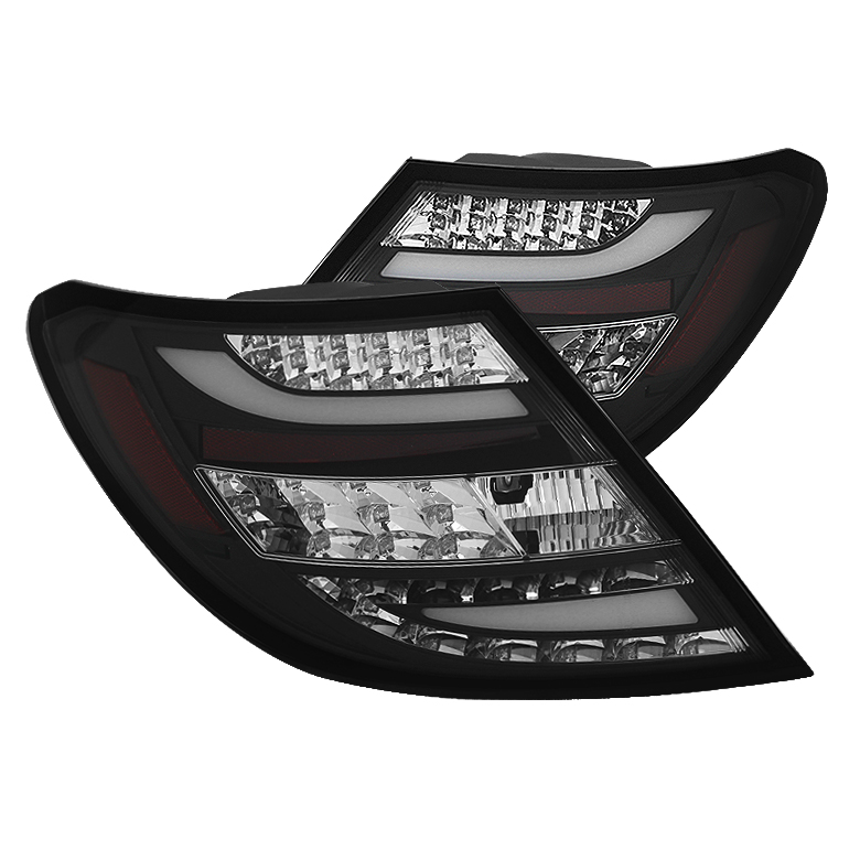 Mercedes Benz W204 C-Class 08-10 LED Tail Lights - Black