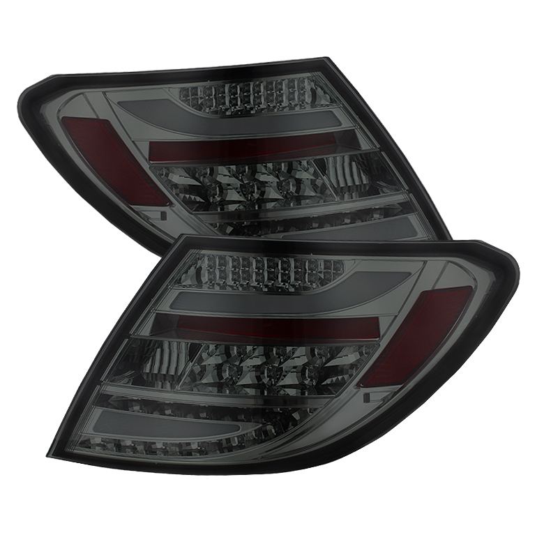 Mercedes Benz W204 C-Class 08-10 LED Tail Lights - Smoke
