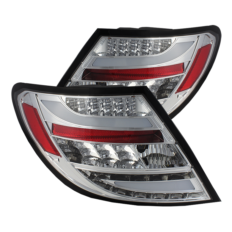 Mercedes Benz W204 C-Class 11-12 LED Tail Lights - Chrome