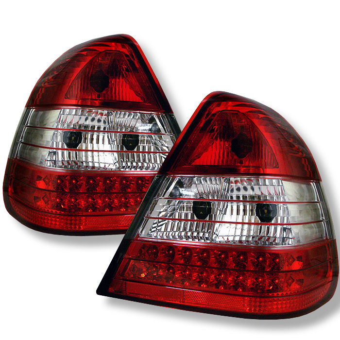 Mercedes Benz W202 C-Class 94-00 LED Tail Lights - Red Clear