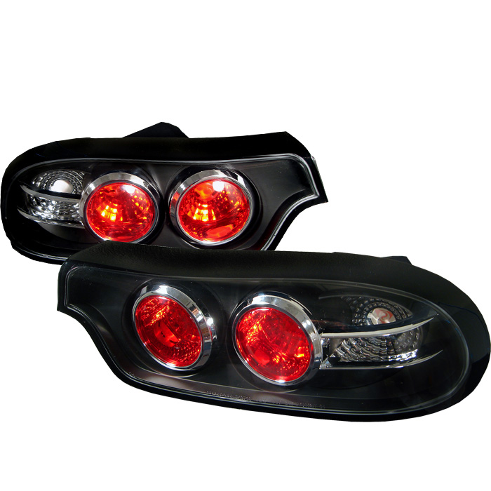Mazda RX7 93-01 Euro Style Tail Lights - Black