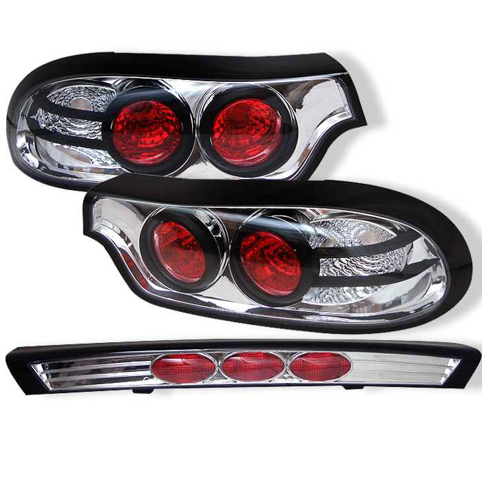 Mazda RX7 93-01 Euro Style Tail Lights - Chrome
