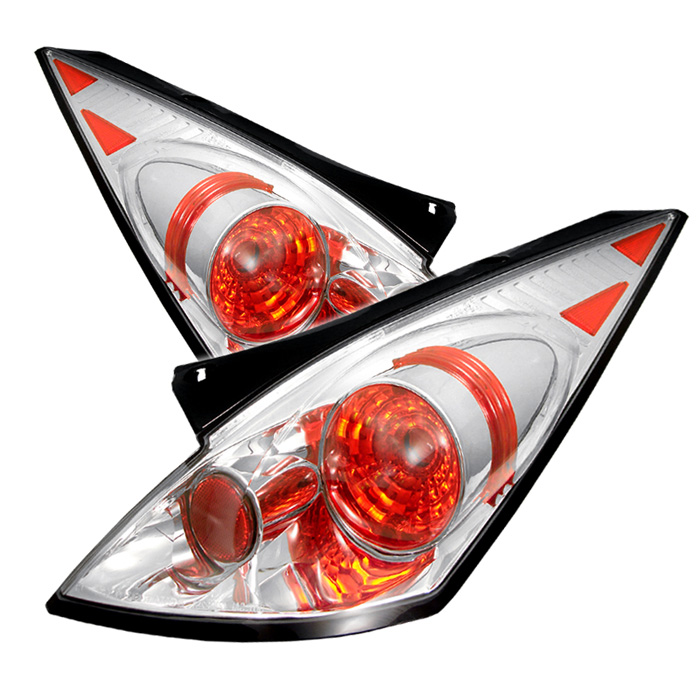 Nissan 350Z 03-05 Euro Style Tail Lights - Chrome