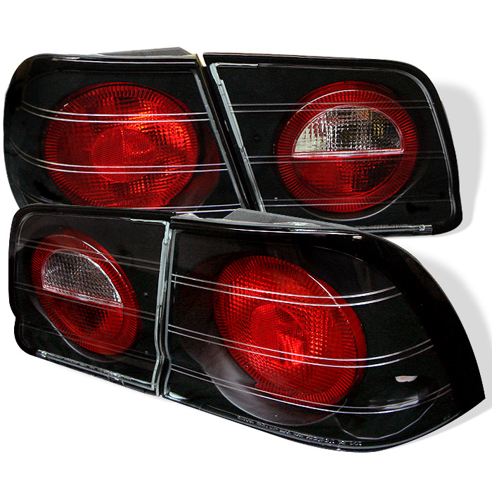 Nissan Maxima 95-96 Euro Style Tail Lights - Black