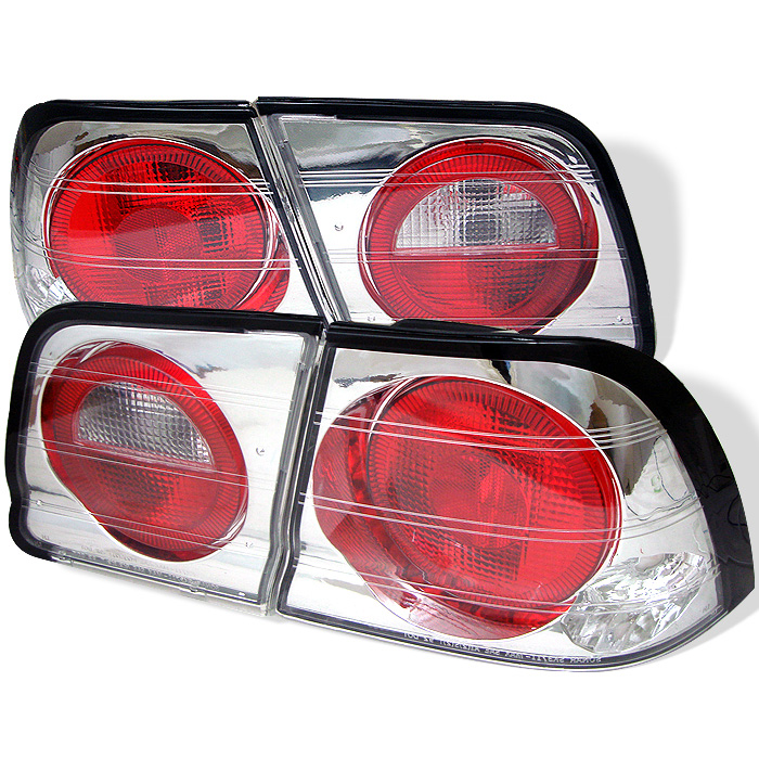 Nissan Maxima 95-96 Euro Style Tail Lights - Chrome