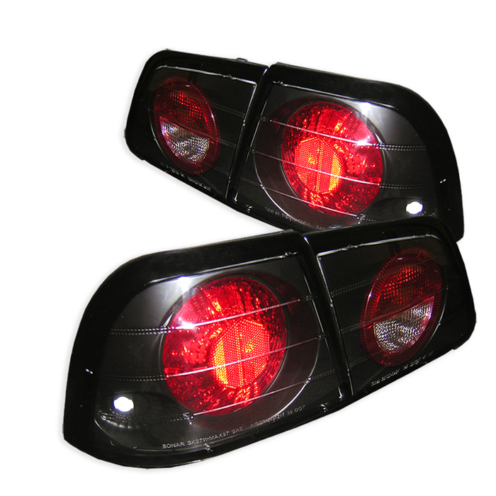 Nissan Maxima 97-99 Euro Style Tail Lights - Black
