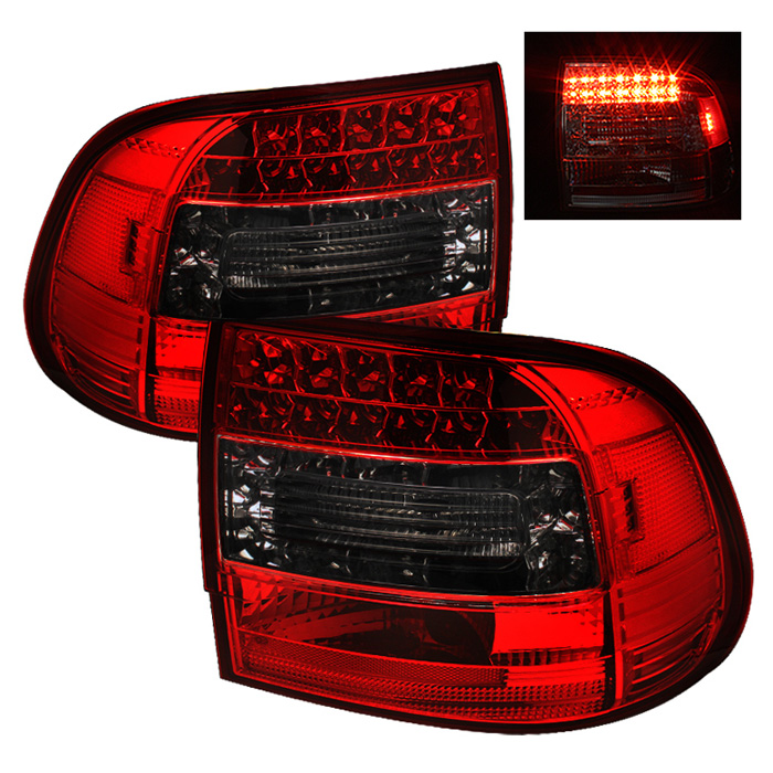 Porsche Cayenne 03-07 LED Tail Lights - Red Smoke