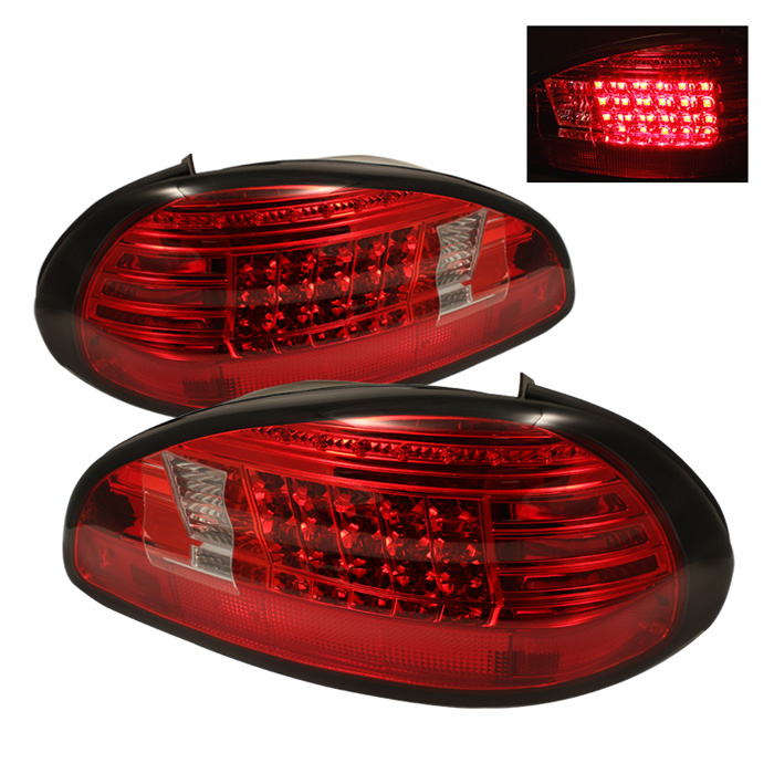 Pontiac Grand Prix 97-03 LED Tail Lights - Red Clear
