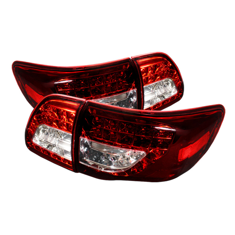Toyota Corolla 09-10 ( LED Indicator ) LED Tail Lights - Red Cle