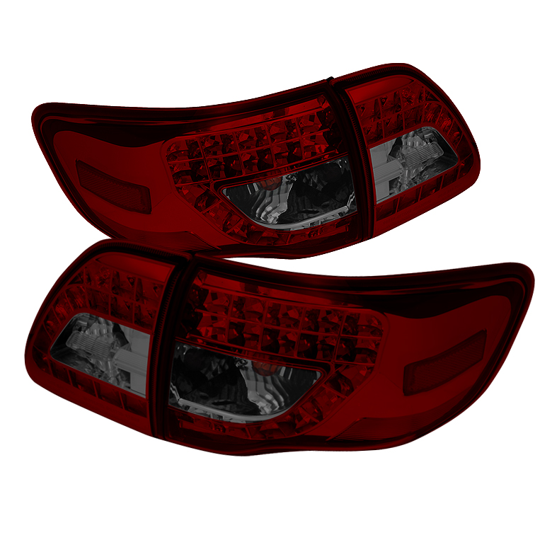Toyota Corolla 09-10 LED Tail Lights - Red Smoke